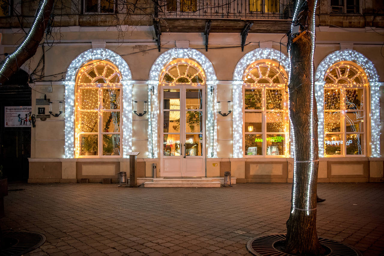 Odessa. The Grill Brothers Restaurant — Lumiere | Light illumination | Ukraine