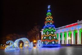 Christmas trees — Lumiere | Light illumination | Ukraine